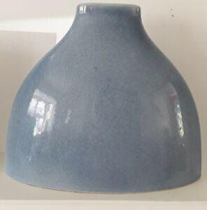 Habitat Blue Crackle Ceramic Vase Decorative table Modern flower Art Home decor