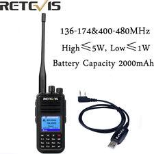 Walkie Talkie Retevis RT3S Dual Band Digital DMR Handheld Ham Radio 3000CH