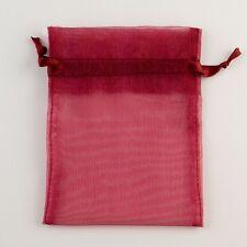 100 3x4 Organza Gift Bag Jewelry Pouch Wedding Favor Burgundy