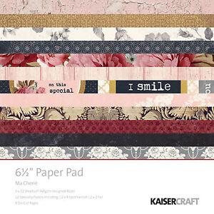 Ma Cherie 6.5x6.5 Paper Pad by Kaisercraft Romance Wedding Valentine