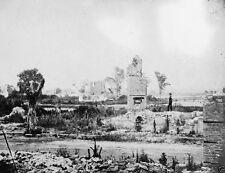 Ruins of homes in Hampton, Virginia 1865 - 8x10 US Civil War Photo
