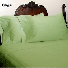 QUEEN SIZE SAGE STRIPE BED SHEET SET 800 THREAD COUNT 100% EGPYTIAN COTTON