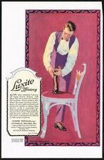 1910s Original Vintage Luxite Hosiery Man Fashion Coles Phillips Art Print Ad