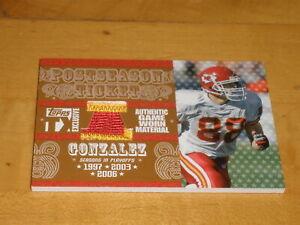 2007 Topps TX Exclusive Postseason Ticket PATCH Tony Gonzalez 08/25