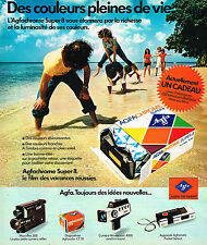 PUBLICITE ADVERTISING 114  1975  AGFA  film AGFACHROME  SUPER 8