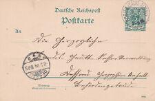 REICHSPOST GA 08.02.1894 ROSITZ SACHS-ANHALT nach DESSAU Druck 993 b