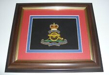 NEW Royal Artillery wire blazer crest  BRITISH ARMY 12 X 10inches FRAME heroes
