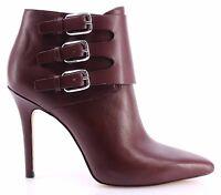 Chaussures Bottines Escarpins Femmes MICHAEL KORS Prudence Bootie Merlot Leather