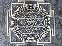 "ZenVizion 13.5"" Sri Yantra Wall Art Mandala, Sacred Geometry Home Decor, Symbol,"
