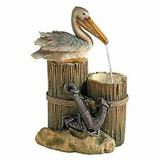 SS11780 - Pelican's Seashore Roost Sculptural Fountain - New!