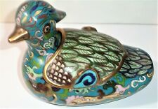 New ListingVintage Chinese Cloisonne Mandarin Duck Box with removable Lid
