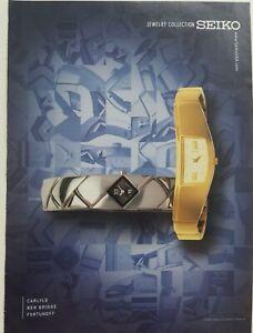 2002 gold silver Seiko watch Carlye Ben Bridge Fortunoff jewelry collection ad