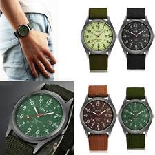 Men Military Army Date Canvas Strap Analog Quartz Watch Cuff Wrist Band Gifts