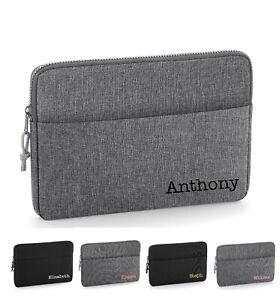 "Personalised Laptop Sleeve Bag Custom Name Corner 13"" or 15"" 2 Sizes D3"