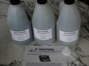 Three Bottles of Toner Refill Lexmark T620 622 623 X620 12A6865 12A6860 28P2010