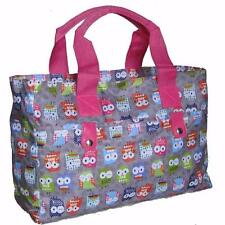 Knitting Bag/ Beach Bag/Handbag,wool owls tote crochet hand holdall pink gym owl