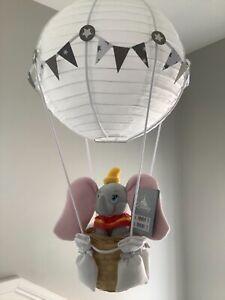 Dumbo in a   hot air balloon nursery light shade,