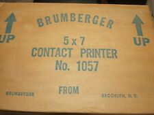 5X7 Contact Printer by Brumberger New Very Old Stock In Original Factory Box