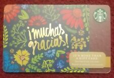 Starbucks 2014 Gift Card NEW Unloaded Holiday Muchas Gracias
