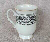 Sheffield Fine China 12oz Coffee Tea Mug Cup Gold Trim Drinking Dinnerware