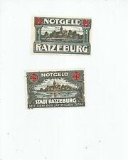 RATZEBURG  TWO  NOTGELD