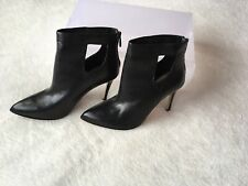 Ladies Size 4.5 Black Leather Ankle Boots By Autograph M&S ⭐️Brand New RRP£99 ⭐️