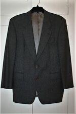 USA Men's Cashmere Wool Hugo Boss Blazer 42L Houndstooth Black Brn Apollon Exc!