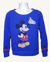 Divided by H&M Disney Women's Mickey Mouse Sweater Size 8 Blue Sweatshirt