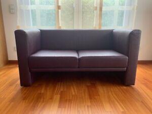 Zweisitzer Couch, lila, Straußenlederoptik (Kunstleder), gebraucht