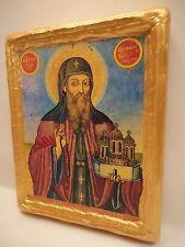 Saint Dionysius Agios Dionysios Olympos Eastern Orthodox Icon Gold Art on Wood