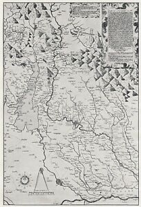 E1848 The Territory Veronese by Bernardino Brognolo - 1931 Map - Vintage Map