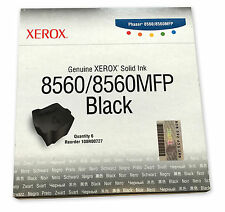 NEW GENUINE SEALED BOX XEROX PHASER 8560 8560MFP 108R00727 SOLID INK BLACK 6