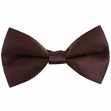 New KID'S BOY'S 100% Polyester Pre-tied Bow tie only Brown party formal wedding