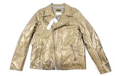 CALVIN KLEIN CK GOLD LARGE FAUX LEATHER JACKET MENS NWT NEW