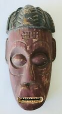 """Ethnic Tribal Face Mask Wall Decor Souvenir of Angola West Africa 9.75"""""""