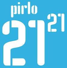 ITALIA PIRLO 21 NAMESET 2009 SHIRT CALCIO Numero Lettera di calore stampa Football Home