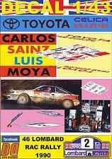 DECAL 1/43 TOYOTA CELICA GT4 ST165 C.SAINZ RAC R. 1990 WINNER (FULL) (03)