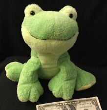 Ty Pluffies Leapers the Frog Green Soft Plush Tylux 2006