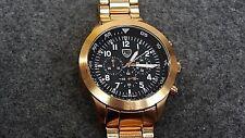 Picard & Cie 1419 Empire Chronograph Black Dial Rose Gold Men's Watch