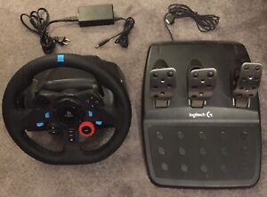 G29 Race Wheel + Pedals + US Wall Adapter