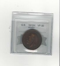 **1912H**Great Britain, One Penny, Coin Mart Graded **VF-30**