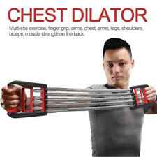 CHEST EXPANDER ADJUSTABLE SPRING EXERCISE Workout w/ Removable Springs Home Gym