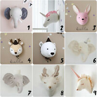 3D Felt Elephant Head Animals Head Toys Kids Bedroom Wall Hangings Decoration