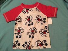 Junk Food 2T Disney Mickey Mouse Rash Guard Swim Shirt