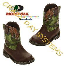 Mossy Oak Garanimals Pull On Western Cowboy Camo Boots Toddler Size 6 Boys Girls