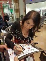 Foto Autografo Cristina D'Avena Asta Beneficenza Soccer Signed Autografata Music