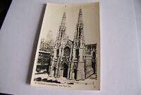Rare Vintage RPPC Real Photo Postcard B1 New York Cathedral St Patrick's City