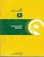 JOHN DEERE 143 FARM LOADER OPERATORS MANUAL