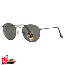 RAY-BAN Round Metal SUNGLASSES RB3447 029 Gunmetal Frame 50mm