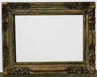 Vintage carved solid wood frame fits 14 x 20, outer dim. 22 x 28